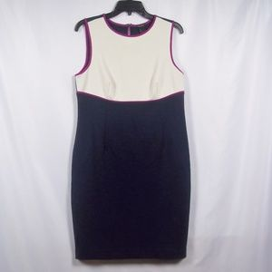 Ann Taylor Color Block Knit Sheath Dress Sz 8